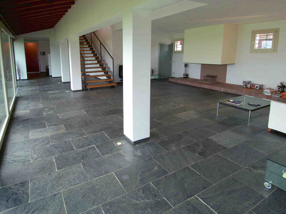 Gray Slate Tile Floor Bathroom Gurus